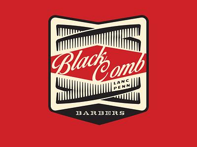 The Black Comb identity illustrator lettering logo type design typography branding vector illustration