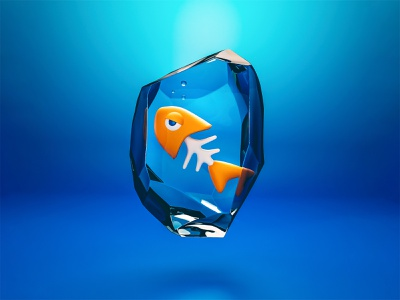 Sad fish game art character blender3d blender art 3d ilustration 3d design 3d character 3d artwork 3d art