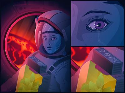 Goodbye sweet home illustrator astronaut space vector art character art vector illustration graphic design