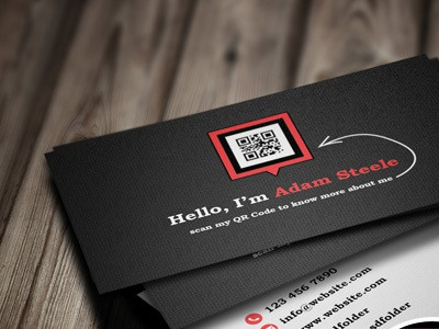 Free psd scan my qr code business cards by arslan dribbble preview1 colourmoves