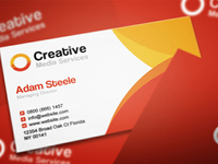 Free PSD: Creative Media Business Cards in 2 Colors