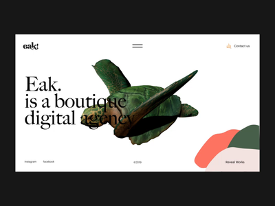 Eak. Digital — Website marketing agency studio showcase portfolio website art interaction ux ui typography minimal layout interface graphic design
