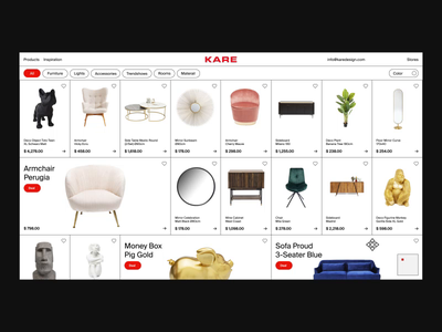 KARE Design — Website shopping online store shop experience motion web animated website minimal typography interaction ux ui layout interface graphic design