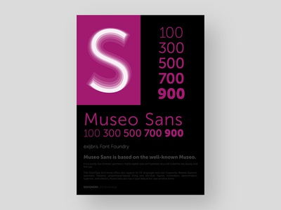 Museo Sans Poster museo sans museosans typefoundry posterdesign poster typeface adobe type lettering font typography