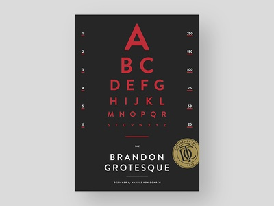 Brandon Grotesque Typeface typefoundry posterdesign poster typeface adobe type lettering font typography