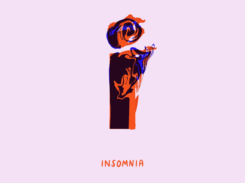 I for insomnia winter is coming got game of thrones mental health anxiety digital 36 days of type typography lettering insomnia i love type 2d