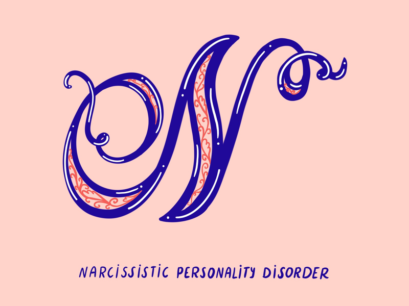 N for Narcissist narcissistic abuse survivor narcissist typography type mental health illustration i love type hand lettering flat digital design anxiety 36 days of type 2d