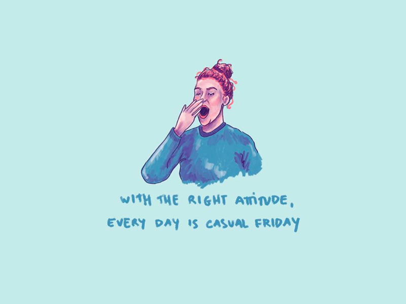 Casual Friday™ typography quotes funny attitude procreate app procreate digital illustration casual friday friday tgif
