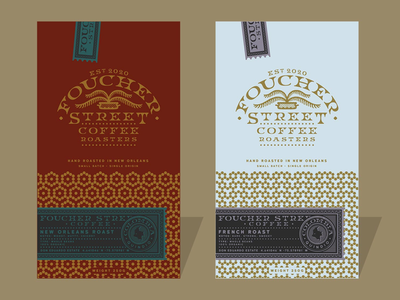 Foucher Street Coffee freelance design brand colors label logo coffee branding branding espresso coffee
