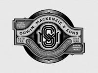 Orwin, Mackenzie & Sons Grocery store logo