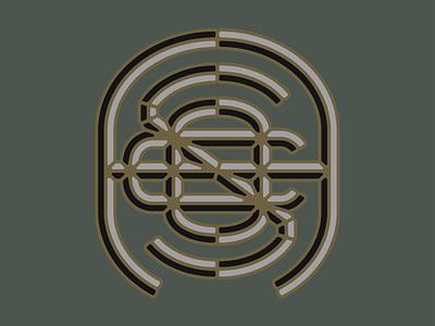 Apothecary Smoke Co. monogram logo typography logo marijuana monogram smoke