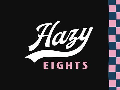 Hazy Eights logo branding custom preroll marijuana weed cannabis design