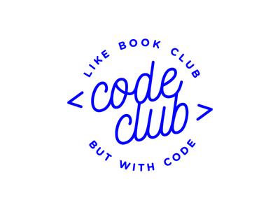 Code Club lettering logo book club coding club code badge