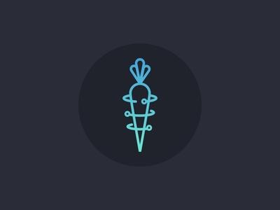 Atomic Carrot logo monoline atomic blockchain cryptocurrency carrot