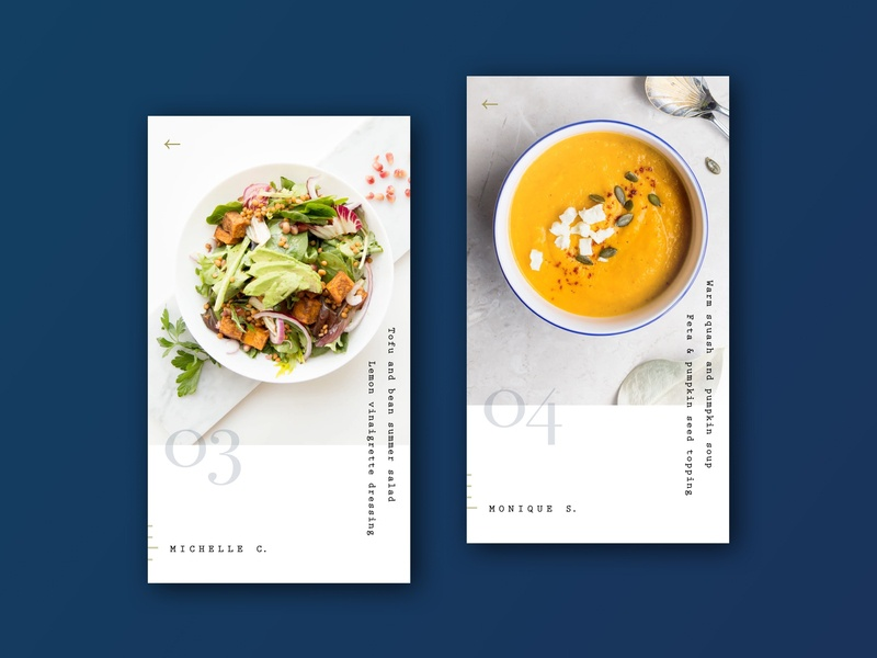 Crouton App - Style exploration product design monospace minimal simple soup salad ui app