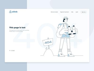 404 Page logotype minimal clean flat concept airbnb oops error 404 logo illustration brand app web vector ux ui sketch dribbble design