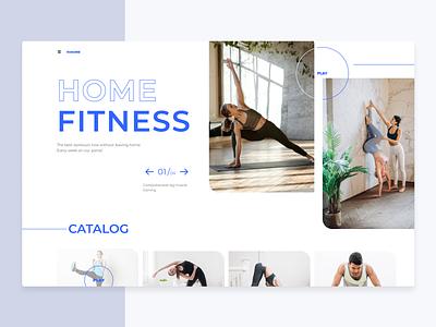 Fitness fitness app home landing fitness web design webdesign logo illustration brand app web vector ux ui sketch dribbble design
