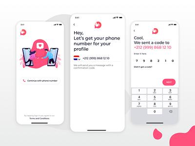 Dating App Concept inspiration inspire user profile setting message chat registration register dating branding logo illustration app ui web ux sketch dribbble design