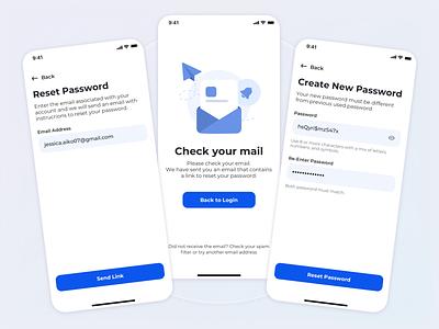 Reset Password Flow email reset password inspire inspiration product design typography web design mobile animation print branding logo illustration app ui web ux sketch dribbble design