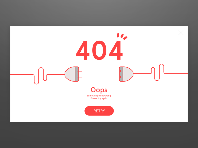 Daily Ui #008 404 page minimal develope ios flat web animation ux brand vector icon app ui sketch logo ios app illustration dribbble design dailyui branding