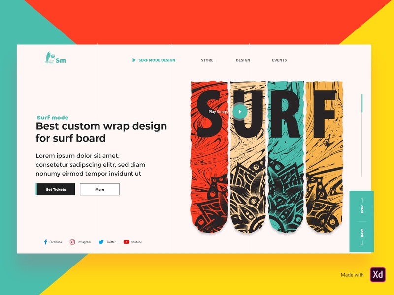 surf website design
