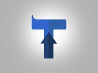 """Sharp """"T"""" Logo w/ Arrow"""