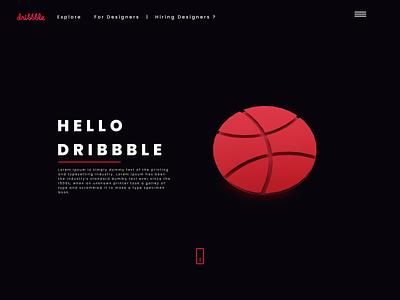 Dribbble Home dribbble shot ui design ux design blender logo 3d figma design branding ui ux 2020 trends
