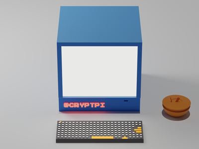 Old IMAC apple computer blender 3d 3d art figma blender ux design 3d ui branding 2020 trends