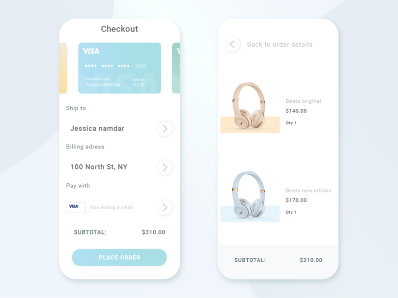 Checkout Page beats gradient illustrator adobe xd credit card checkout creditcard visa checkout design vector illustration uidesign ui