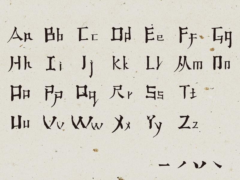 字母 字体设计