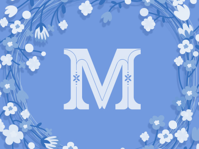 WINDFLOWER | FONT font flower type tipografia capitular capital