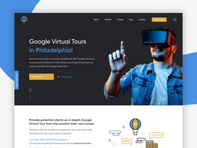 Momentum | Virtual Tour | Landing Page