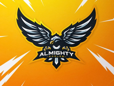 Almighty eagle gaming eagle twitch logogaming mascotlogo eagle logo mascot design logo mixer esports mascot illustration mascot logo gamelogo design gaminglogo esportlogo