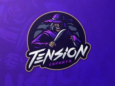 Tension Esports mascot design mascotlogo twitch logo logo esports mascot illustration mascot logo gamelogo design gaminglogo esportlogo
