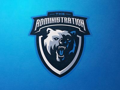 THE ADMINISTRATION BEAR mascotdesign branding gamelogo mascot design esports mascot illustration mascot logo gaminglogo design esportlogo