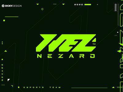 NEZARD ESPORTS TEAM LOGO logo vector branding mascot monogram logo monogram mascot logo illustration gaminglogo design esportlogo