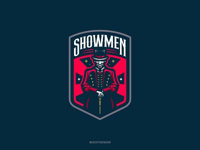 SHOWMEN ESPORTS LOGO branding logo esports gaminglogo mascot esportlogo design mascot logo illustration