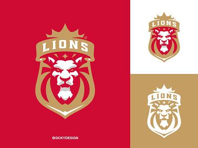 LIONS sportslogo sportsbranding football soccerlogo lions mascotlions lionsmascot lionmascot lionlogo lionslogo logo esports gaminglogo mascot esportlogo design mascot logo illustration