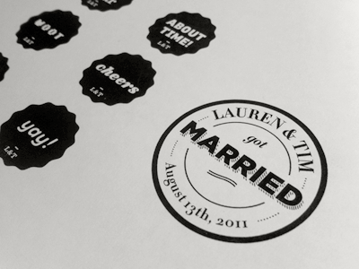 Lauren And Tim Got Married! wedding stamps