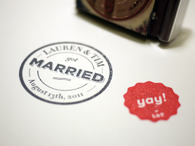 Stamps! - Lauren And Tim Got Married! stamp wedding stamps