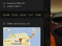 Photo Metadata Panel
