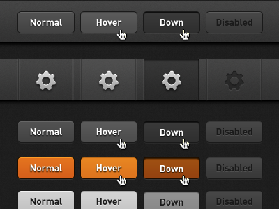 Button Style Guide everpix web ui buttons