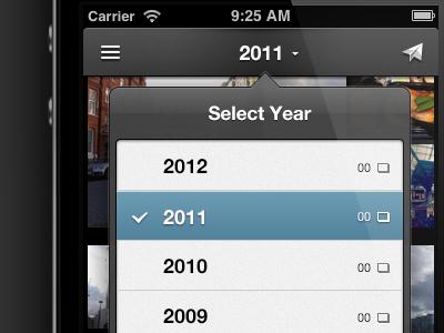 Decoupling View & Year Navigation  iphone ios ui everpix popover