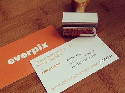 Business Card & Stamp stamp business card everpix