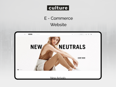 Culture (E-Commerce Website)