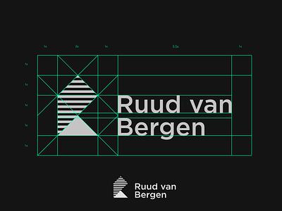 Ruud van Bergen - Logo grid construction concept branding typography icon mountain mountains logotype logodesign logo ruud van bergen stripes lines logo guidelines simplicity grid design grid logo grid