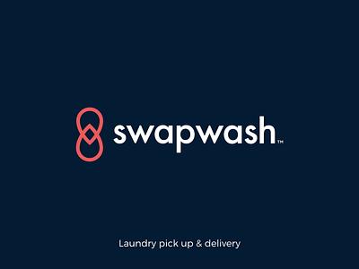 Swapwash - Logo design & Animation typography logotype icon logos logo design branding branding red blue laundry wash swap logo animation animation logo icon symbol logo icon logo logodesign