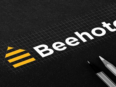 Beehotel logo grid sketch 🐝 design mark sketches black yellow logotype logo design sketch wasp hotel bee hotel bee raster raster logo grid system logo grid logodesign branding icon logo