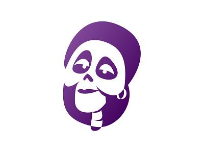 Coco - imelda woman gradients purple gradient skull female head face illustration design skeleton skelet movie character disney art disney gradient purple portrait art portrait character coco