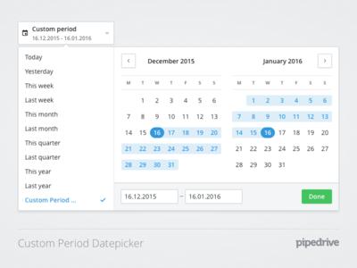 Custom period Datepicker